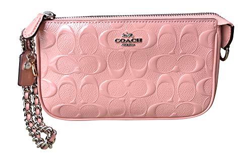 Coach Signature Armband aus Lackleder, groß, Pink (Petal), Einheitsgröße Pink-coach Armband