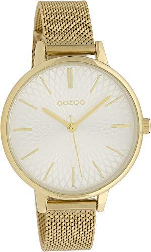 Fashion Oozoo Damenuhr mit Design Zifferblatt und Edelstahl Milanaiseband in 40 MM