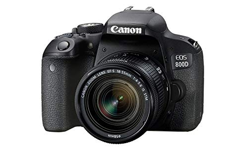 Canon EOS 800D 24.2MP Digital SLR Camera + EF S 18 55 mm is STM Lens + 16 GB Memory Card + Carrycase