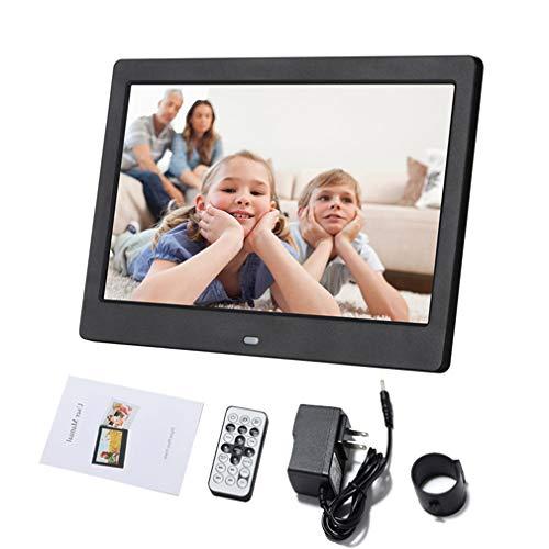 KUNCC Digitaler Fotorahmen mit Touch-Typ, automatischer EIN/Aus-Timer für 13,12 Zoll (1024x600) Auflösung/Musik/Video-Player, ultradünnes Design mit Fernbedienung,Black 13.12 Video