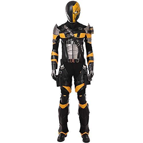 Für Deathstroke Kostüm Kind - Kostüme für Erwachsene, Cosplay Justice League Deathstroke COS Kleidung Komplettset Von COS Kleidung Kleidung Männlich Full Set (remarks Shoe Size)-S