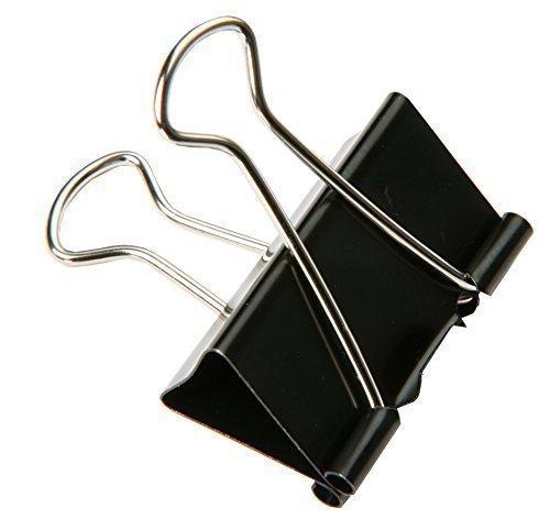 SBS Binder Clips | 51 mm | 15 Stück | Metallklammern | Büroklammern | Papierhalter