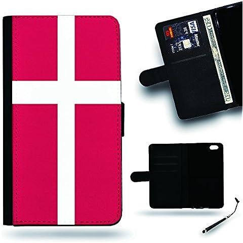 Buona Idea Regalo//2016Coppa 2016Coppa del Mondo a portafoglio in pelle Custodia protettiva per LG Optimus G4H810H815LG G4//Bandiera Danimarca
