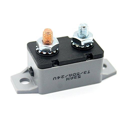 Preisvergleich Produktbild WINOMO Schalter Schalter von Wiederherstellung manuell 50 A Unterbrechung 24 V für Aufladen von Batterien Automatische Autos LKW Bus Motoren Marinen-Schleppfischen (F3088 – 50 A)
