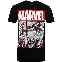 Marvel Heroes Comics Camiseta, Negro (Black Blk), Talla del Fabricante: Medium para Hombre