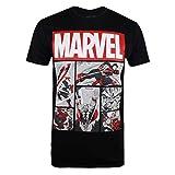 Marvel Heroes Comics, Camiseta para Hombre, Negro (Black Blk), Talla del Fabricante: Large