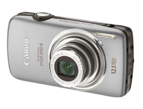 Canon Digital IXUS 200 IS Digitalkamera (12 MP, 5-fach opt. Zoom, 7,6cm (3 Zoll) TOUCH-Display, HDMI, 24mm Weitwinkel) silber (12-megapixel-kamera Canons)