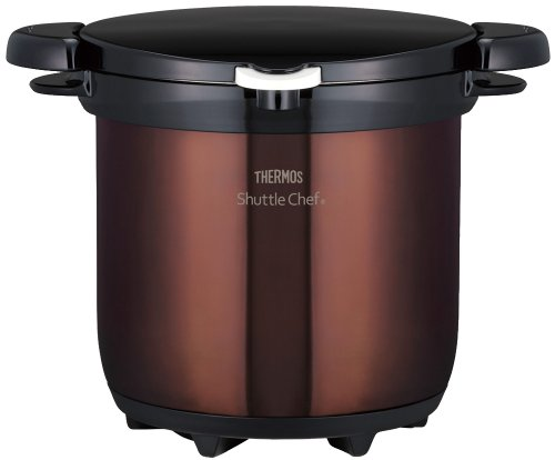 THERMOS vacuum thermal insulation cooker shuttle chef 4.5L clear brown KBG-4500 CBW (Japan import / The package and the manual are written in Japanese)