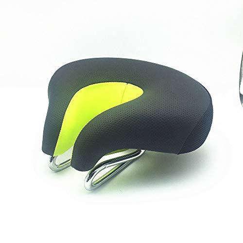 Hunpta@ Mountainbike Sattel, Ergonomische MTB Mountainbike Fahrrad Sattel Split Nase Radfahren Sitzkissen Pad (Grün)