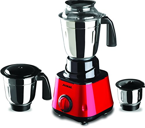 Jusal Galaxy 600 Watt Mixer & Grinder With 3 Jars_Yellow and Red