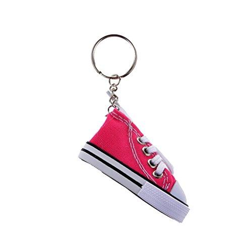 Preisvergleich Produktbild Art Und Weise Segeltuchschuh Anhänger Schlüsselring Schlüsselanhänger Geschenk - Fuchsia, Taille Unique