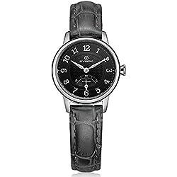 STARKING Women's BL0980SL62 Vintage Stainless Steel Quartz Watch with Brown Leather Strap