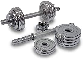 20 Kg Set Chrome Dumbbells