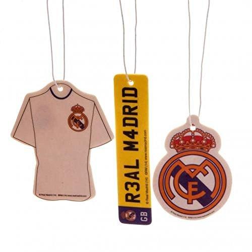 Preisvergleich Produktbild Car Accessories–Offizielles Real Madrid FC Lufterfrischer (3Pack)–Neuheit Fußball Geschenk Ideen