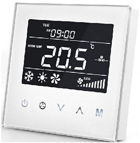 Mco casa mcoemh8-fc Bobina de tubo de 2ventilador termostato, color blanco