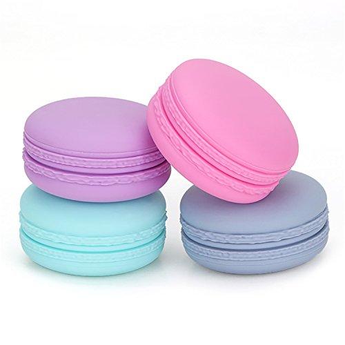 MKNzone 4 PC 20ml Silikon-kosmetische Behälter-Creme-Glas stellte mit Siegeldeckeln, großes passendes für Lagerung von Kosmetik, Shampoo, Lotion und Conditioner, etc. ein (Glas-lagerung)