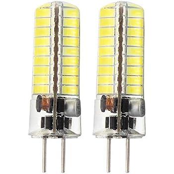 Glming 3.5 W GY6,35 72 - 5730 SMD LED Bombilla de G6.35 BI Pin trasera Cristal silicona maíz bombilla blanco frío Paquete de 2