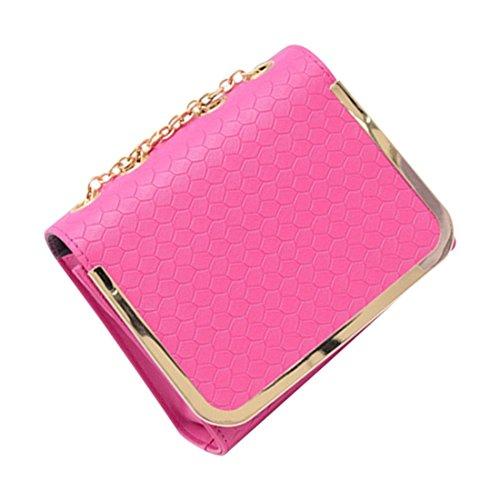 messaggero borsa - TOOGOO(R)piccola borsa sacchetto dellunita di elaborazione Borse di cuoio del messaggero delle donne una spalla di colore della caramella della borsa epoca moda femminile Rose Red Rose Red