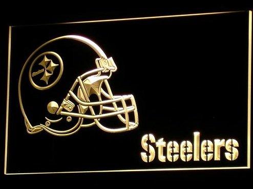 Pittsburgh Steelers Helm Neon LED Zeichen Werbung Neonschild Gleb -