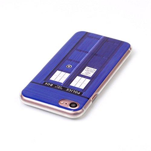WYSTORE Apple iPhone 7 Case Silicone Coque Souple Transparente TPU Silicone en Gel Case Premium Ultra-Light Ultra-Mince Skin de Protection Pare-Chocs Anti-Choc Bumper pour Apple iPhone 7- B1 T1