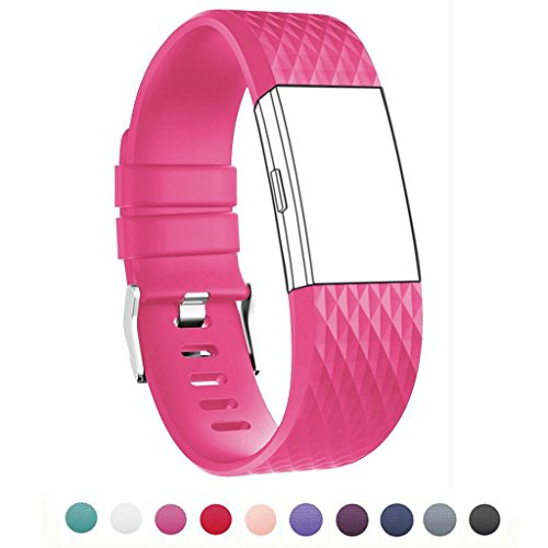 Fitbit Charge 2 Band Classic Fitness Replacement Accessories Silicone Wrist Band for 2016 Fitbit Charge 2 Special Edition Plum (Dd-band)
