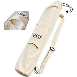 Portátil bolsa de esterilla de yoga con bolsillo grande - Ajustable Correa de Hombro Bolsa de yoga/bolsa de esterilla de ejercicio, blanco