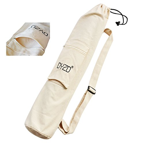 Sac de tapis de yoga portable avec grande poche – sac pour tapis de yoga avec bandoulière/sangle réglable, sac de tapis d'exercice/de sports