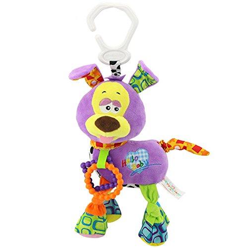 Zantec Baby, Kleinkind Tier Weiche Rasseln Bett Krippe Kinderwagen Musik Hängen Glocke Spielzeug Hund Nette Kinder Stofftiere Kinder Puppen (Rot-schwanz Ha)