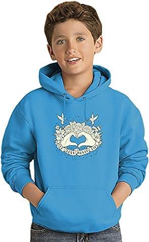 True love never dies Kids Sweat-shirt à capuche léger Lightweight Hoodie For Kids   80% Cotton-20%Polyester  12-13 yrs