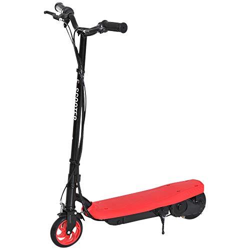 HOMCOM E-Scooter Elektroroller Roller Jugend Roller Kinder Metall Rot L76*W50*H91cm (Y-roller Für Kinder)