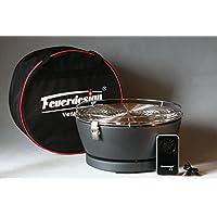 Feuerdesign Vesuvio Antracite- BBQ a carbone con ventola a