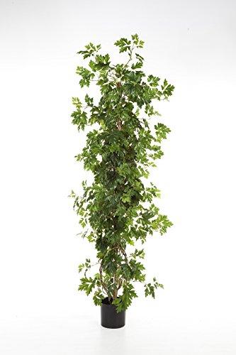 artplants – Künstliche Weinrebe Nika, 516 Blätter, grün, 100 cm – Unechte Reben/Deko Wein Rebstock