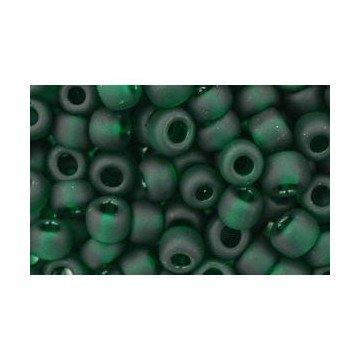 I-Beads cc939f Rocailles Toho 8/0 Transparent Frosted Green Emerald 10 g