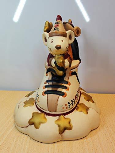 Soprammobile per Bambini - Topini su Scarpone - Wald - Ceramiche Artistiche - Made in Italy