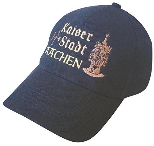 Preisvergleich Produktbild Fan-O-Menal Baseballcap mit Einstickung - Kaiserstadt Aachen - 68930 blau