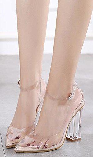 Aisun Damen Elegant Durchsichtig Gechlossen Pointed Toe High Heels Pumps Schuhe Aprikosen