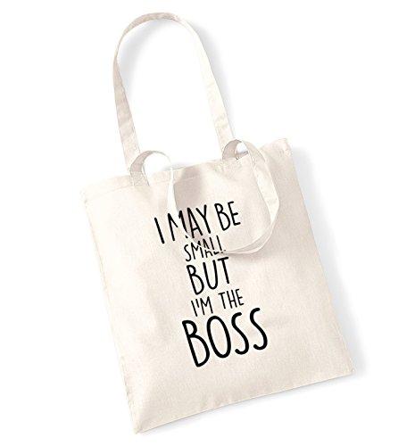 """I può essere ridotte, """"I'm the boss tote bag natur"""