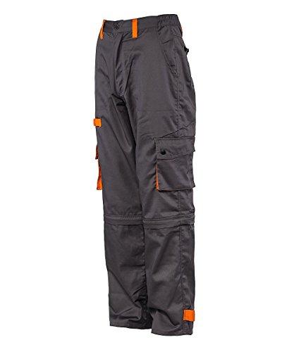 Stenso Desman - Pantaloni da lavoro multitasca - grigio/arancione - 58