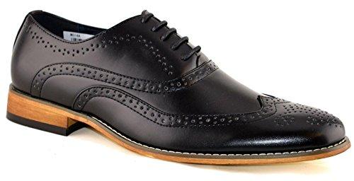 Chaussures à lacets avec doublure en cuir pour homme Taille 39-47 Noir