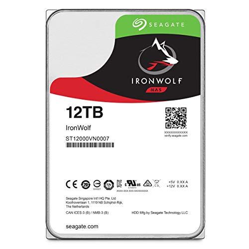 Seagate ST12000VNZ007 IronWolf Interne Festplatte (3, 5 Zoll/ 8, 9 cm, 12 TB, für 1 - 8 Bay NAS-Systeme) silberfarben (Seagate Personal Cloud)