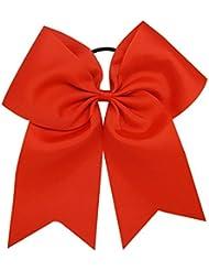 09804a1205dfe9 20cm Extra große Haarschleife Cheerleading Haarschmuck Cheer Bow Pony Tail  für Mädchen 1 ...