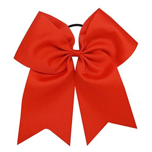 arschleife Cheerleading Haarschmuck Cheer Bow Pony Tail für Mädchen 1 Stück (#26) (Cheerleading Haargummi)