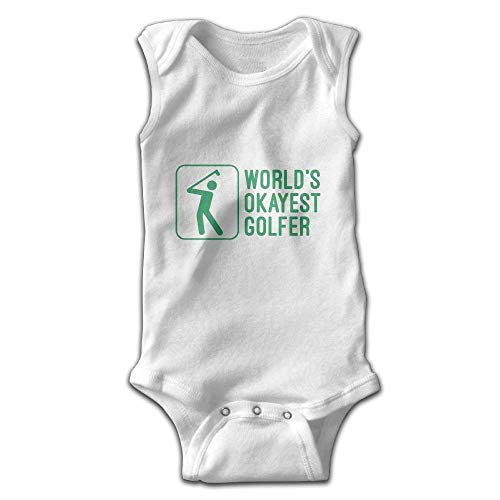 fhcbfgd Infant Baby Boy\'s Sleeveless Jumpsuit World\'s Okayest Golfer Outfit
