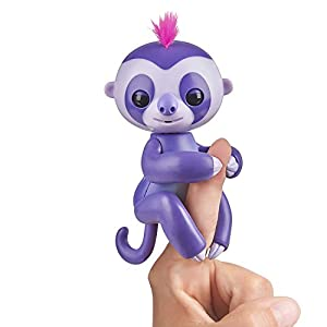 Wow Wee- Marge Fingerlings Perezoso, Color Morado (WowWee 3752)