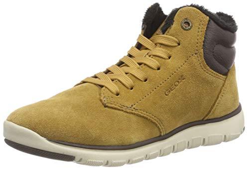 Geox Jungen J Xunday Boy H Chukka Boots, Gelb (Dk Yellow/Brown C2286), 34 EU (Dk Leder Brown Kinder Schuhe)