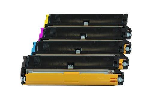 Rebuilt für Epson Aculaser C 1900 Series - C900 / C13S050100 & C13S050097 - C13S050099 - Toner Sparset Black, Cyan, Magenta, Yellow - Für ca. 4 x 4.500 Seiten (5% Deckung) -