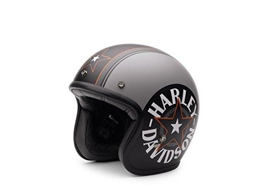 Harley-Davidson Grey Star Retro 3/4 Jet Helm, EC-98320-15E, M