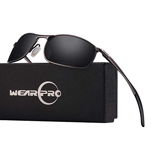 f6f26bb25 wearPro Men's Sport Polarized Metal Frame Sunglasses HD Lens Hot Fashion  Sunglasses for Men WP1015(