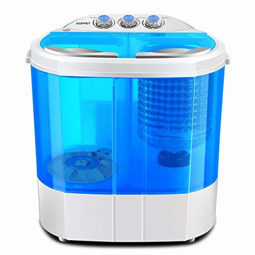 SUNCOO Tragbare Waschmaschine, Mini-Waschmaschine für Single Waschmaschine mit Trockner und Schleuder Campingwaschmaschine billig Waschmaschine:2,5 kg,Schleudergang:2 kg blau