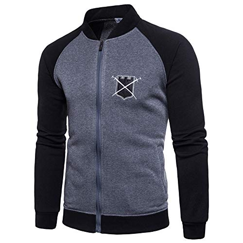 OSYARD Sweatshirt Homme Slim Fit Coton, Homme No Fermeture éclair Tops Pas Cher Sweat-Sh
